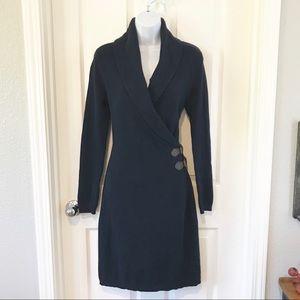 Lauren Ralph Lauren Navy Midi Sweater Dress sz S